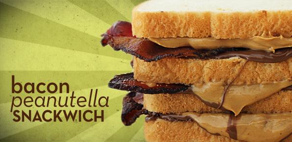 Bacon Peanutella Afternoon Snackwich