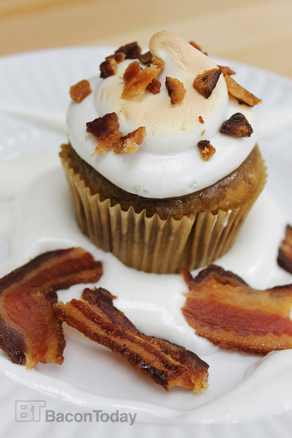Spiced Pumpkin Amp Bacon Toasted Marshmallow Cupcakes