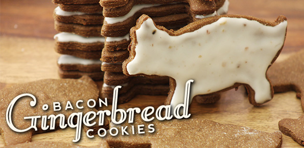 Bacon Gingerbread Cookies